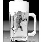 Shilohkuma Beer (シロクマビール)モノクロ
