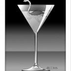 Dragon Cocktail (ドラゴンカクテル)モノクロ